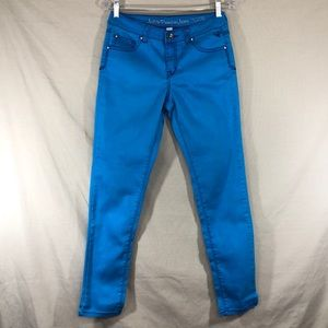 Justice Girls Bright Cyan Stretch Jeans